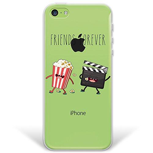 iPhone 5C Hülle, WoowCase® [ Hybrid ] Handyhülle PC + Silikon für [ iPhone 5C ] Indische Pferde Sammlung Tier Designs Handytasche Handy Cover Case Schutzhülle - Transparent Hybrid Hülle iPhone 5C D0223