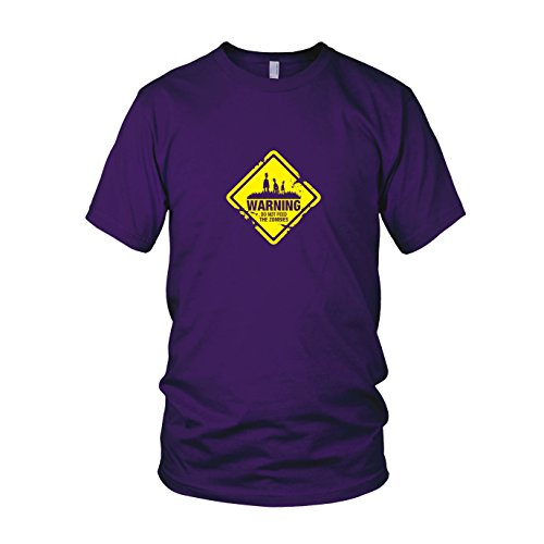 ies - Herren T-Shirt, Größe: XXL, Farbe: lila (28 Days Later Halloween Kostüm)
