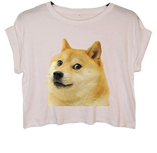 Doge Crop Top Weiß