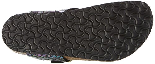 Birkenstock Gizeh, Tongs Fille Multicolore (Shiny Snake Black Multi)
