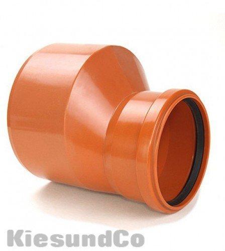 KG Übergangsrohr DN 160/110 Reduzierung Muffe Abwasser Rohr Abfluß - zur Abwasserentsorgung im Erdreich von einem Gebäude bis zur öffentlichen Kanalisation