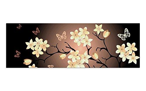 Premium vetro immagine di ag39000603parete motivo farfalla crema misura 90x