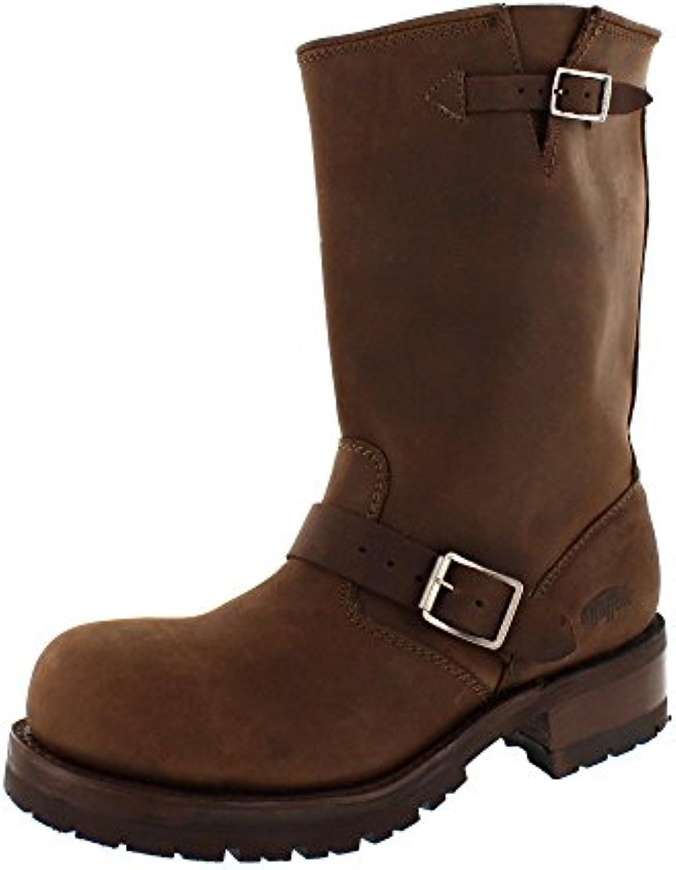 Buffalo - Botas de Piel para hombre marrón marrón