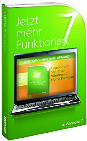 Windows 7 Anytime Upgrade - Starter auf Home Premium (Produktschlüssel) (Windows 7 Home Premium Kaufen 64 Bit)