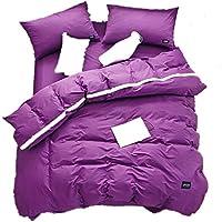 Neues Baumwollbettwäscheset Aus Baumwolle Mit 4 Tüchern Luxuriöse Und Extrem Strapazierfähige Premium-Bettwäscheserie Baumwollbettwäscheset Color : B , Größe : Quilt cover 220*240 sheets 230*245