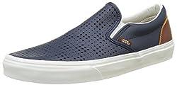 Vans Mens Blue Classic Slip-on Low-top Loafers-UK 8.5