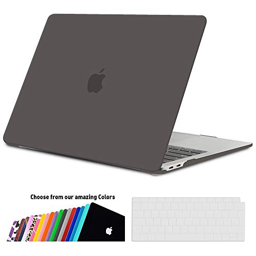iNeseon MacBook Air 13 Hülle Case 2018, Ultradünne Hartschale Cover Schutzhülle + Tastaturschutz Apple MacBook Air 13.3 Zoll mit Retina Bildschirm Touch ID Modell A1932, Grau