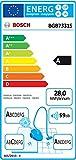 Bosch GL70 Ergomaxx'x Aspirateur avec Sac 650 W Rouge