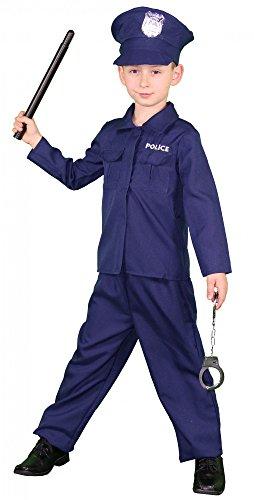 Foxxeo 40239 I Polizeikostüm für Kinder Gr. 122-152 -