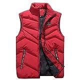 Floweworld Herren Weste Steppweste mit Stehkragen aus Hochwertigem Material Herbst Winter Mode Stehkragen Reine Farbe Weste Weste Jacke Coat