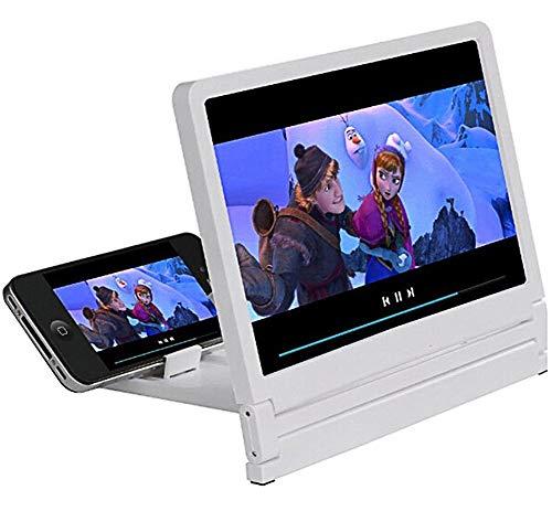 Adroit-Lupe 3D HD Mobiles Smartphone-Inquire-Vergrößerungsglas Video Screen Magnifier Faltbare Ledertasche Ständer Für Iphone 7/6S/6 Employees Samsung Galaxy S7 S6 Und Andere Telefon