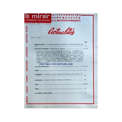 MIROIR DE L'INFORMATION DE LA PUBLICITE ET DES RELATIONS PUBLIQUES (LE) [No 220] du 02/03/1962