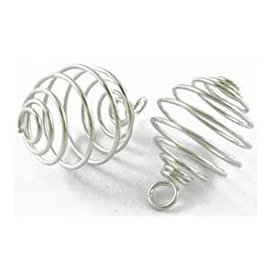 Pack Of 10 x Silver Plated Iron 19 x 28mm Bead Cages - (HA06055) - Charming Beads