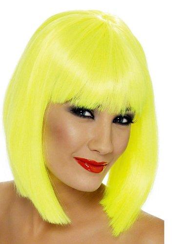 Peluca amarilla corta elegante (amarillo brillante)