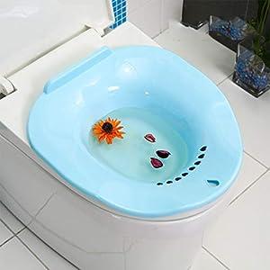 RANRANHOME Sitz-Bad, Hockendes Bad Der Medizinischen Qualität Für Schwangere Frauen Hämorrhoiden Patienten Auf Der Toilettenhüfte-Badewanne