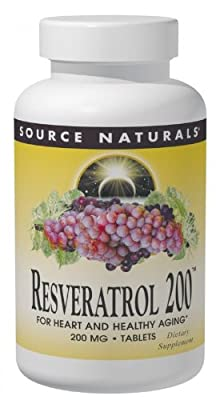Source Naturals Resveratrol, 60 Tabs, 200 Mg by Source Naturals