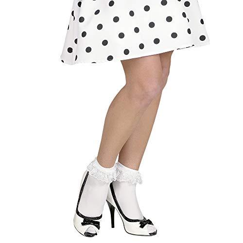 Widmann 4882W - Socken mit Spitze - weiß - OneSize