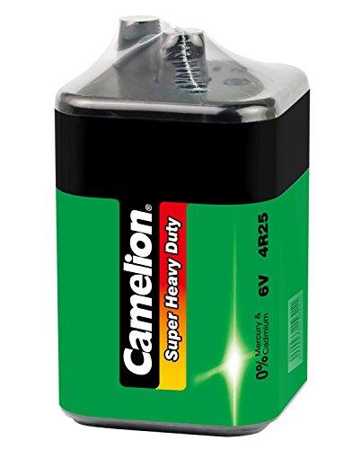Camelion 10100125 Super Heavy Duty Batterie (4R25, 6 Volt , 7 Ah, SP1, Approprié pour Lampe de Chantier), Vert