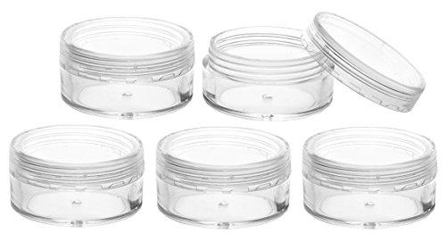 FiveSeasonStuff 5 Pcs 10ml Transparente Cosmétiques Pot pour la Crème