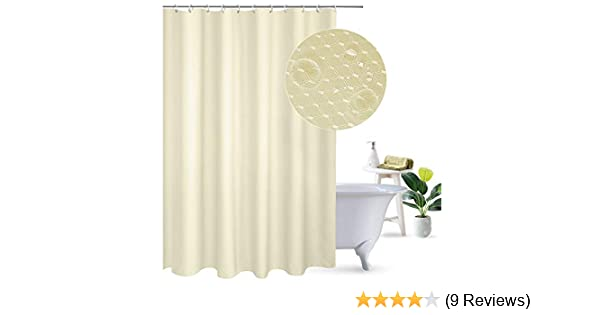 UFRIDAY Waffle Weave Polyester Shower Curtain Mildew-Resistant and Waterproof with Rust Proof Metal Grommets Stall Size Elegant Design Fabric Shower Curtain Honeycomb for Home//Hotel 36 x 72 A05314 Beige