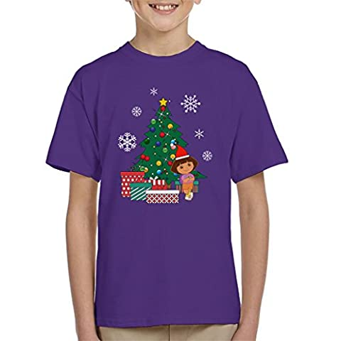 Dora The Explorer Around The Christmas Tree Kid's T-Shirt