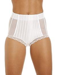 Culotte gainante taille haute - tulle - blanc