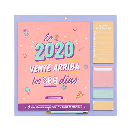 Mr. Wonderful WOA09848ES, Calendario de Pared 2020, Talla Única, Rosa