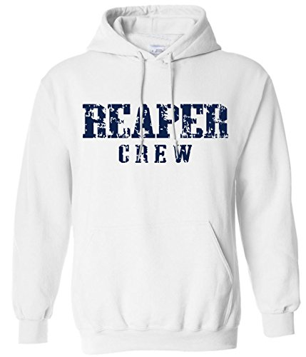 Reality Glitch Herren Reaper Crew Kapuzenpullover (Weiß, X-Large) - Sweatshirts Anarchy Jax Of Sons