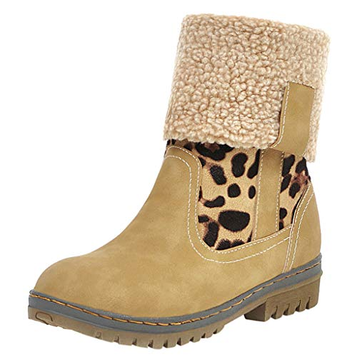 Herbst Winter Damen Schuhe Frauen Lässig Nähte Farbe Flacher Boden Stiefel Schneeschuhe - Designer-kleidung Frauen