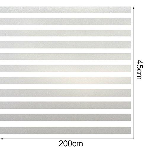 HXSS Gefrostet Streifen Statisch Glas Nicht klebend Fensterfolie 45cm x (Haar Markieren Sticks Sie)