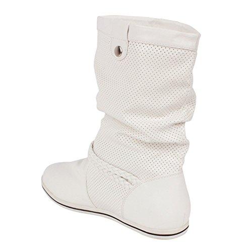 Japado - Stivali Donna Bianco (bianco/nero)