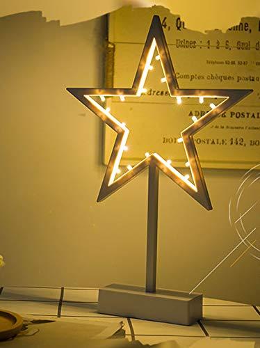 Veilleuse Lumière en Forme D'étoile LED en Plastique Signe-Éclairé Marquee Étoile Signe De Mur