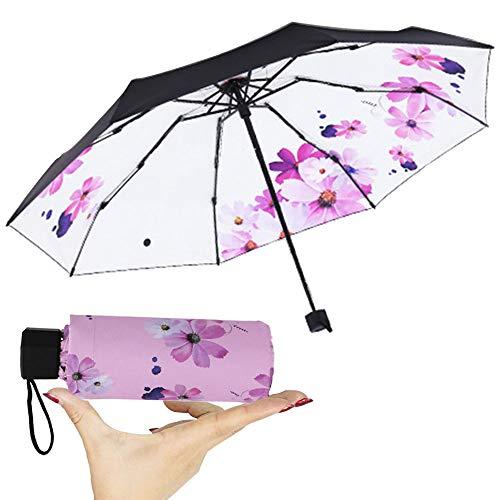 mini Travel Sonne & Regen Regenschirm - Light Compact mit 95% UV-Schutz Hochzeit und persönliche Sonnencreme