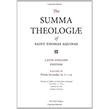 The Summa Theologiae of Saint Thomas Aquinas: Latin-English Edition, Prima Secundae, Q. 71-114