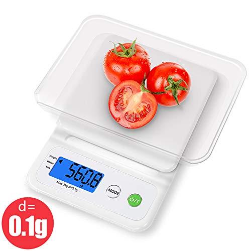 Hochpräzise Küchenwaage, Gewicht LCD Digitale elektronische Waage Haushalt Kochen Lebensmittel Präzision 3 kg / 0,1 g Backwaren elektronische Waage