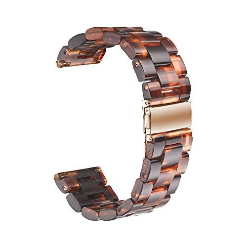 Bearbelly Armband Kompatibel mit Apple Watch 3/4 38mm Acetat Schildpatt Harz Wasserdicht Sport Ersatz Uhrenarmband Armband Damen Herren Handgelenk Kette
