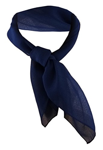 TigerTie Damen Chiffon Nickituch blau dunkelblau Gr. 50 cm x 50 cm - Tuch Halstuch Schal