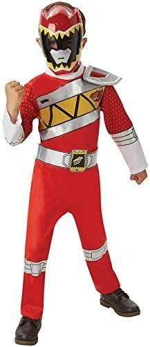 en Rot Rosa Blau Power Ranger Superheld Halloween Büchertag Woche Kostüm Kleid Outfit - Rot, 7-8 Years (Kinder Blaue Power Ranger Kostüm)