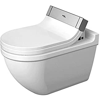 Duravit Wand WC (ohne Deckel) Starck 3 620 mm, Tiefspüler für SensoWash mit verdeckten Anschlüßen, weiss mit Wondergliss Beschichtung, 22265900001