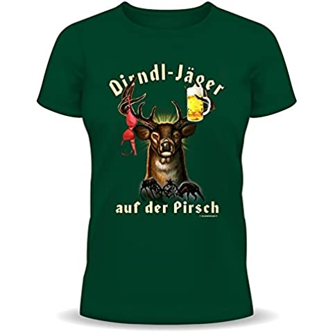 Stiloso e alla moda Fun T-Shirt: TIROLESE-caccia sul gambo (con angelo nome) (colore: scuro-verde)
