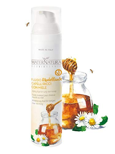 Maternatura - Fluide Coiffant au Miel Biologique - Dompte et redéfinit les cheveux bouclés - Vegan. Fabrique in Italie