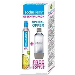 SodaStream Cylindre de gaz de 60 litres avec bouteille de carbonatation de 1 litre