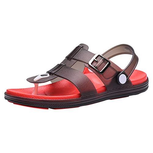 Clearance Sale [EU36-EU49] ODRD Schuhe Herren Männer Sommer Freizeit Herren Wohnungen Strandschuhe Meer rutschfeste atmungsaktive Loch Schuhe Sandale Combat Laufschuhe Wanderschuhe Sneakers ()