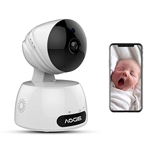 Cámara IP WiFi, AOGE 720p HD seguridad interior para el hogar sistema de cámaras Video Survillance con almacenamiento gratuito en la nube (al menos dos meses), visión nocturna, dos vías de Audio, detección de movimiento para IOS, Android y dispositivos de Windows Remote View