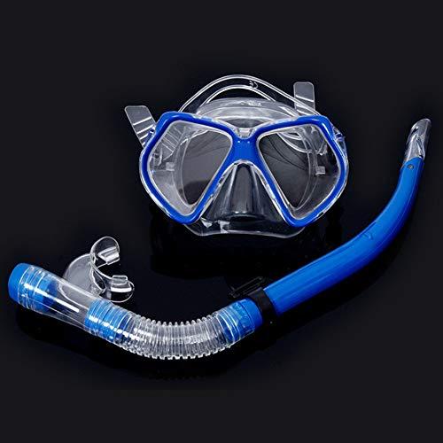 armine88 Tauchausrüstung Set Kit Fashion Scuba Gear ungiftig Automatische Schnalle Ergonomische Klare Sicht Unter Wasser Schnorchel Tauchmaske Zubehör Werkzeug Verstellbarer Gurt(Blau) -