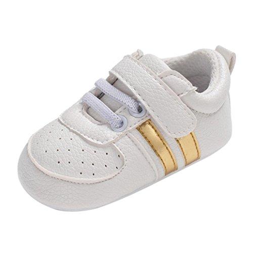is Jungen Mädchen Soft Newborn Anti-Rutsch-Baby Sportschuhe Atmungsaktiv Laufschuhe Hallenschuhe Freizeit Turnschuhe für Kinder (11, Gold-1) (Kind Elf Schuhe)
