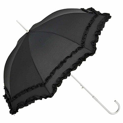 Preisvergleich Produktbild Automatik-Schirm Mary schwarz für Hochzeit Theater Gothic - von Lilienfeld Design