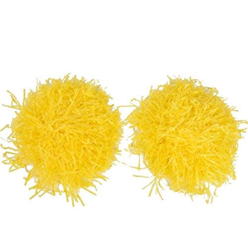 Tbest Cheerleading Pompons Cheerleader Pom Poms Cheerleading Pom Poms, 1 Paar Cheerleader Pompoms Pom Poms für Ball Dance Kostüm Nacht Party Sport Party Tanz Zubehör(Gelb)