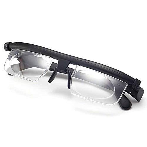 NIUSION Einstellbare Fokus Lesebrille Vergrößerungsbrille -6Dto + 3D Dioptrien Variable Linsen Korrekturbrille Computer Lesung Fahren Brillen-Männer & Frauen
