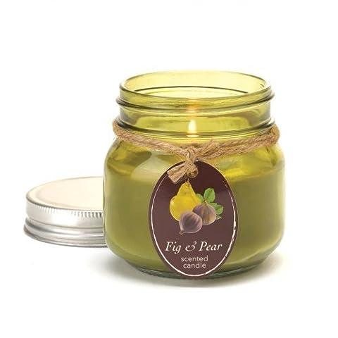Fig & Pear Mason Jar Candle by Tom & Co.